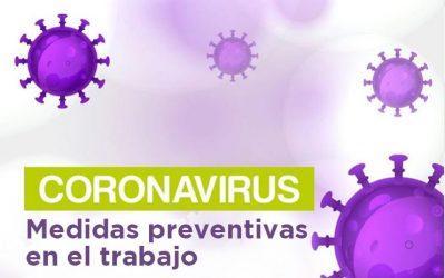 Tomar medidas preventivas al COVID-19 en el trabajo